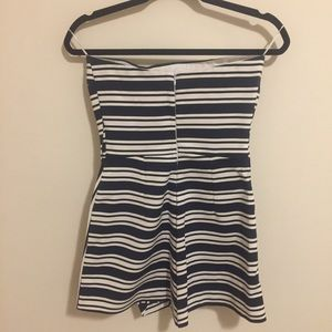 0433998769d Zara Dresses - Zara asymmetrical hem striped strapless romper